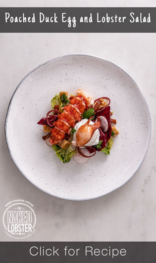 Poached Duck Egg and Lobster Salad